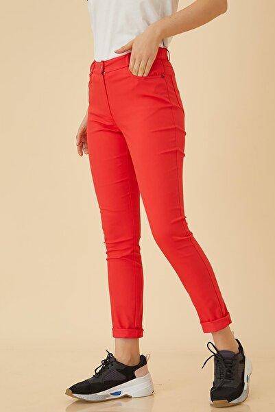 Kayra Beş Cepli Skinny Kot Pantolon Kırmızı B9 19105