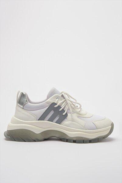 Hotiç Hakiki Deri Beyaz Kadın Sneaker 01AYH181720A90M