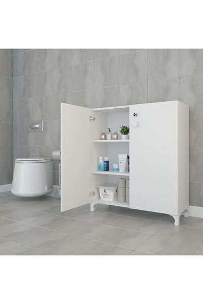Kenzlife Mutfak Dolabı Çilem Byz Kilitli Ayaklı Banyo Evrak Ofis Ayakkabılık Kiler  088*090*032
