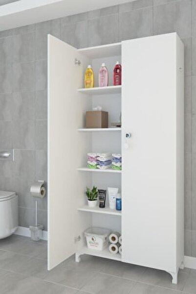 Mutfak Dolabı Çilem 188*090*032 Byz Kilitli Ayaklı Banyo Evrak Ofis Ayakkabılık Kiler