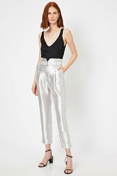 Koton Kadın Gri Cep Detayli Pantolon 0YAK42494UW