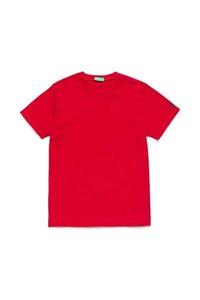 United Colors of Benetton Kırmızı Çocuk Benetton Logo Basic Tshirt
