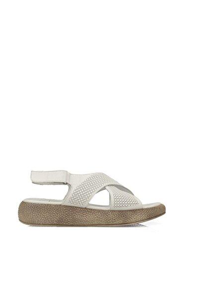 Ziya Kadın Hakiki Deri Sandalet 101353 6025 BEYAZ