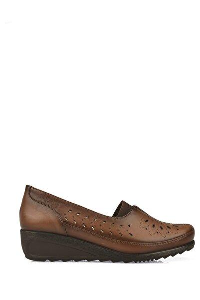 Ziya Kadın Hakiki Deri Ayakkabı 10155 L2352 TABA