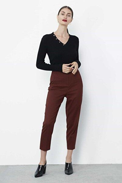 Kadın Terracotta Yüksek Bel Pantolon IW6190003252204