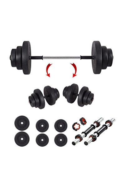 Spor 25 kg Halter Seti Ve Dambıl Seti Ağırlık Fitness Seti