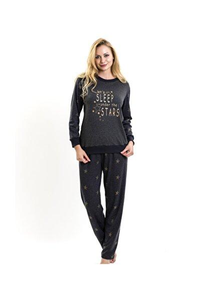 Anıl Lingabooms 1538 Kadın Yıldız Baskılı Eşofman Takım