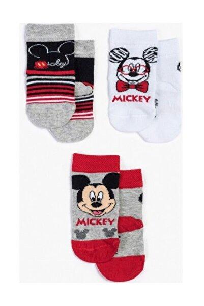 Mickey Mouse Disney 3'lü Bebek Çorap 12949