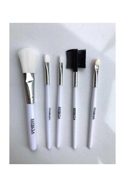 Estella 5'li Makyaj Fırçası Seti - Beyaz