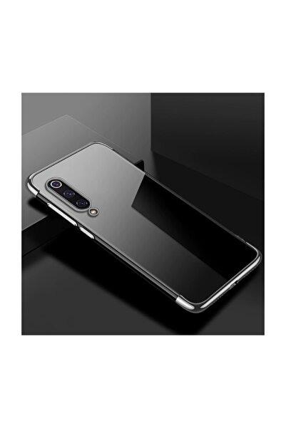 Nokta Xiaomi Mi 9 Lite Kılıf Arkası Şeffaf Kenarları Renkli Koruyucu Silikon Kapak