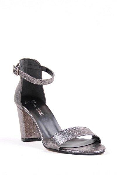 Oioi Platin Kadın Topuklu Ayakkabı