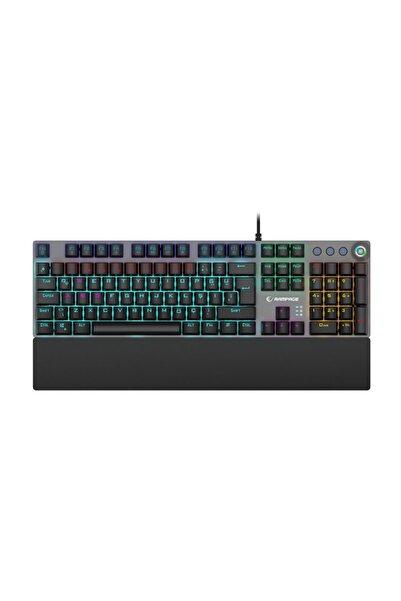 Rampage KB-R28 BLADE PLUS Siyah/Gümüş Gökkuşağı Aydınlatmalı Tam Türkçe Blue Switch Mekanik Gaming Klavye