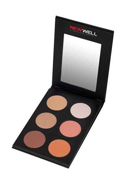 New Well Kontür & Allık Paleti - Contour & Blush Palette 6 Colour 8680923319599