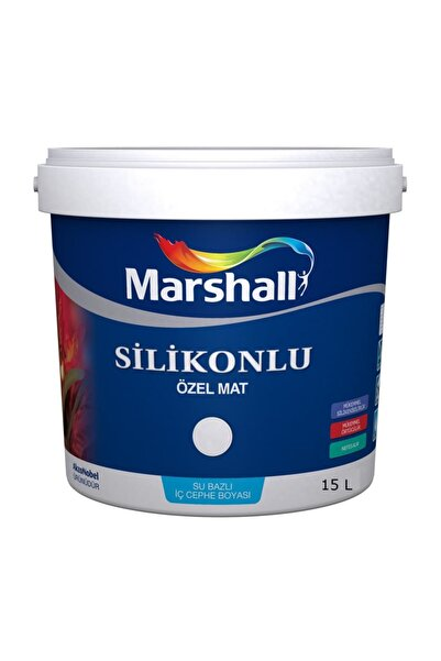 Marshall Silikonlu Özel Mat Duvar Boyası 15 lt - 20 kg Kum Beji