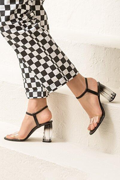 Elle Shoes BODA-1 Siyah Kadın Sandalet
