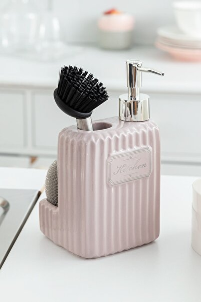 Madame Coco Freman Fırçalı Sıvı Sabunluk - Soft Pudra