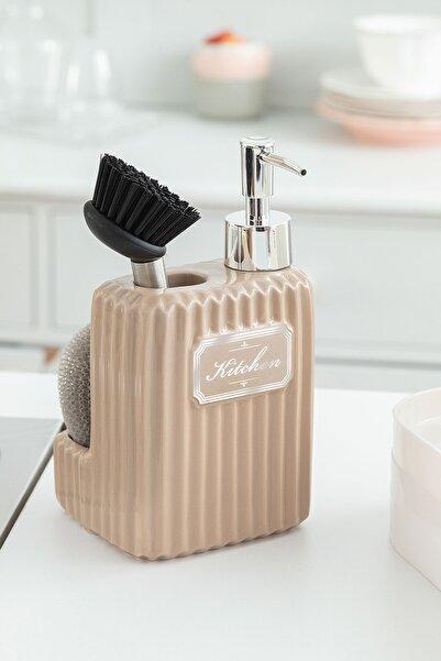 Madame Coco Freman Fırçalı Sıvı Sabunluk - Soft Bej