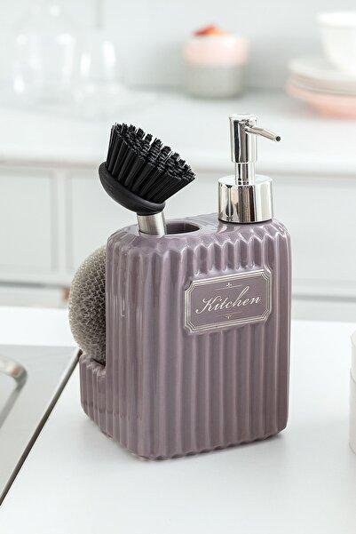 Madame Coco Freman Fırçalı Sıvı Sabunluk - Açık Mürdüm