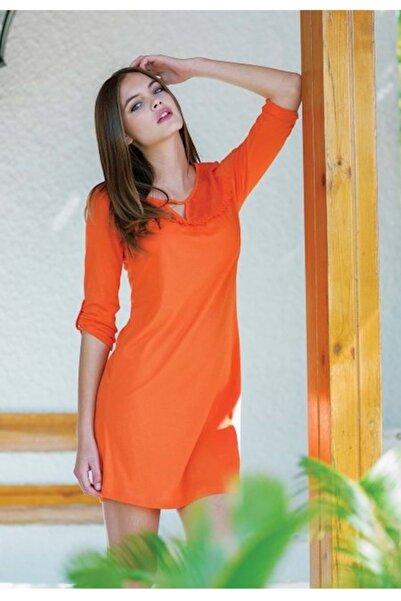 Penyemood Kadın Tunik Elbise - Turuncu  7429