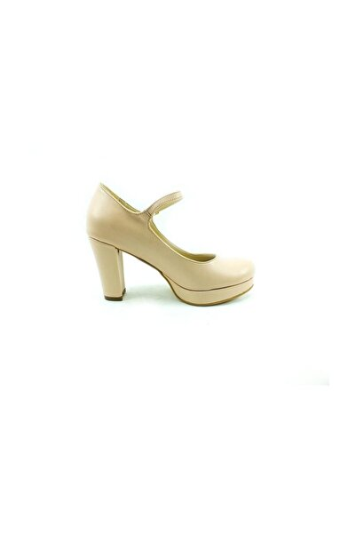 Almera Topuklu Bayan Ayakkabı - Ten