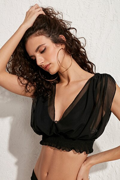 Kadın Bodrum Bikini Üstü LM20103 Black