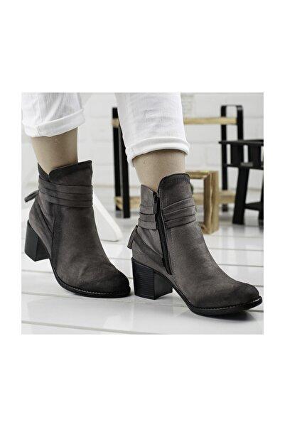 Ayakland 8422-832 Kadın Süet Bot Ayakkabı