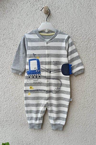 Baby Tongs Track Kepçe Nakışlı Erkek Bebek Tulumu 3-6-9-12 Ay