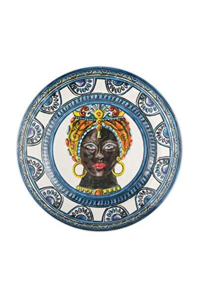 Baci Milano Mavi Barok Yemek Tabağı 28 cm
