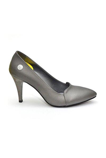 Mammamia 20ya-3695 Platin Kadın Topuklu Ayakkabı