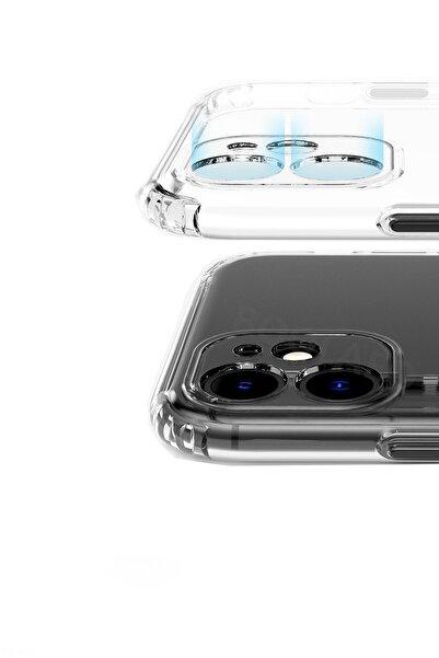 """Apple Iphone 11 (6.1"""") Kılıf 3d Tıpalı Kamera Korumalı Şeffaf Silikon Kapak"""