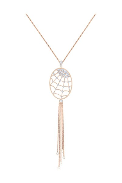 Swarovski Kolye Precisely:Necklace Oval Czwh/Cry/Ros 5499887