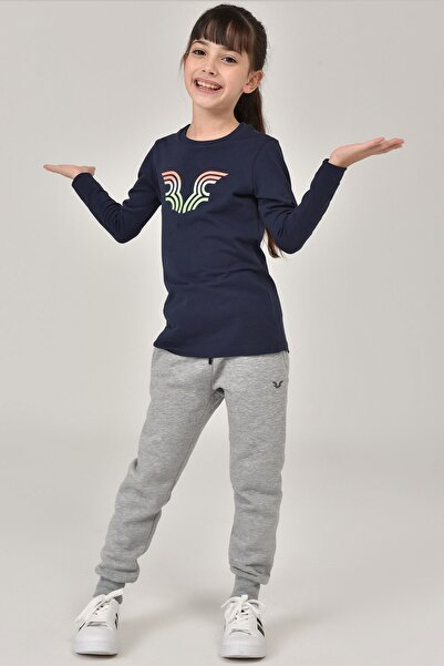 bilcee Lacivert  Unisex Çocuk T-Shirt FW-1484