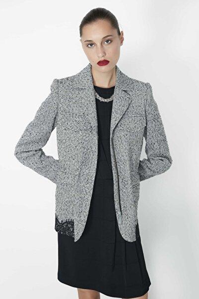 İpekyol Kadın Siyah Dantel Mixli Ceket IW6190005114001