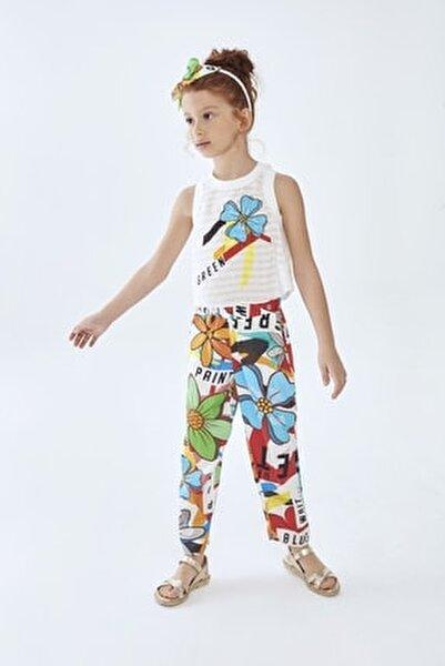 Kız Çocuk Desenli Pantolon