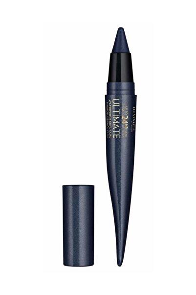 RIMMEL LONDON Suya Dayanıklı Eyeliner - 24 Saat Kalıcı Ultimate Kohl Kajal Carbon Sapphire