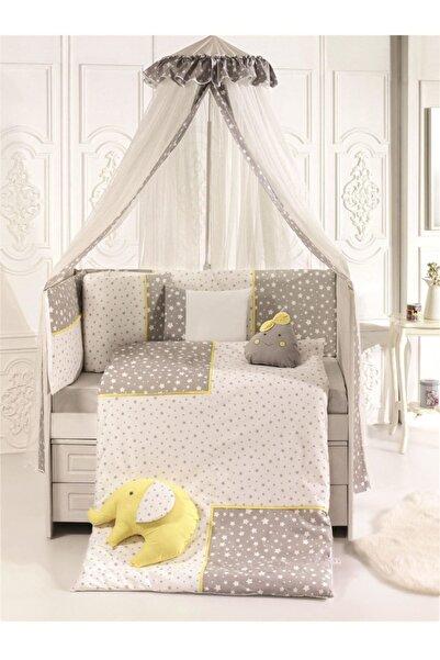 Pierre Cardin Smiley Stars Bebek Beşik Uyku Seti 75x130 Grey Yellow
