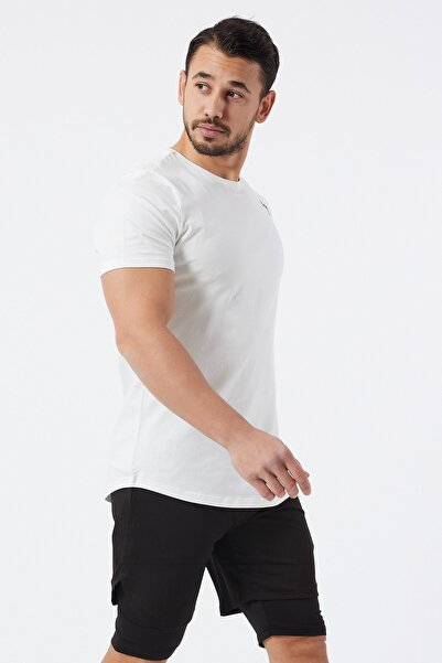 Gymwolves Spor Erkek T-Shirt | Krem | T-shirt | Workout Tanktop |