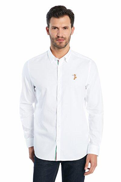 Ruck & Maul Erkek Casual Gömlek - White S20M0220Y1211
