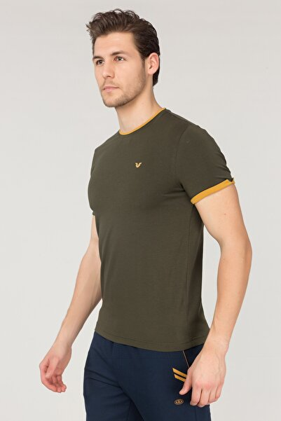 bilcee Yeşil Pamuklu Erkek T-Shirt ES-2374