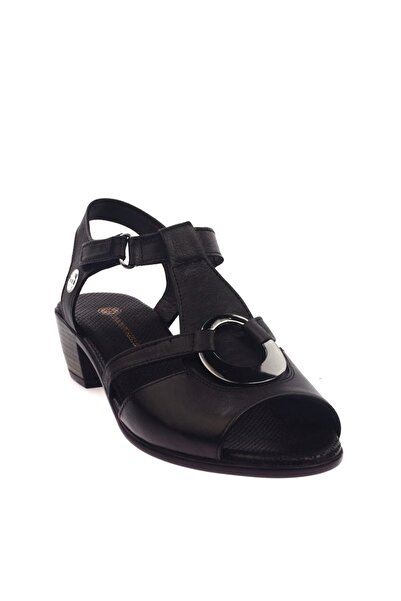 Mammamia Siyah Faber Kadın Sandalet D20YS-1235