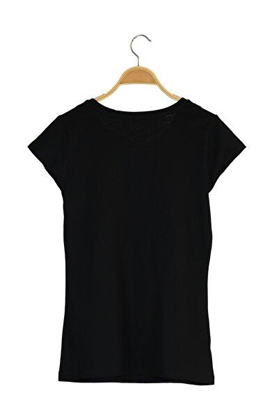 Kadın T-Shirt - NB VOM TEE - V-WTT918-BK