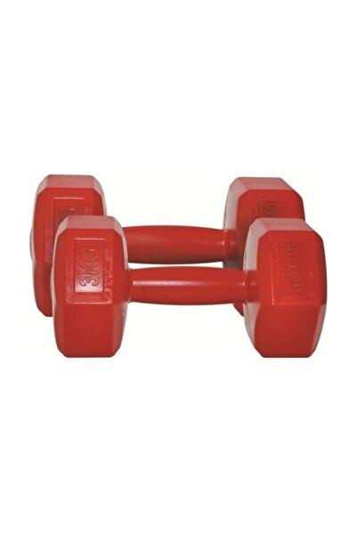 Dynamic Unisex Fashıon Plastıc Dumbbell; 3Kg; Kırmızı 1DYASPD/021/3K