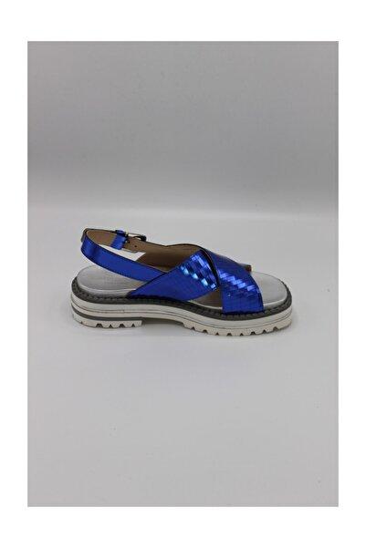 ALBERTO GUARDIANI Gd38021b/---/lr77-- Açık Mavi Bayan Deri Sandalet