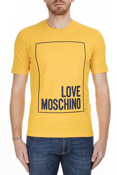 Love Moschino Erkek Sarı T-Shirt S M47322Rm3876 I63