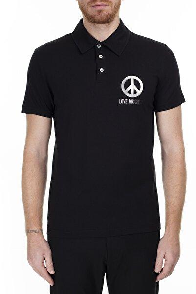 Love Moschino Erkek Siyah T-Shirt S M831802M3876 C74