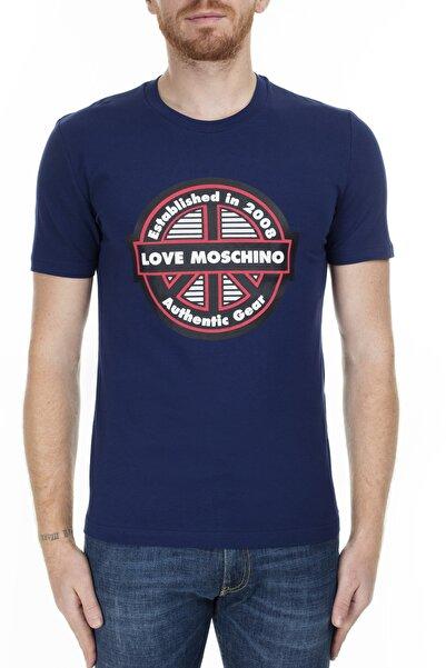 Love Moschino Erkek Lacivert T-Shirt S M47312Ae1811 Y56