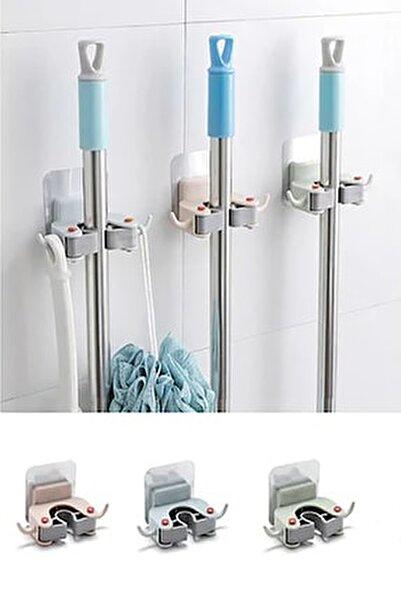 Paspas Süpürge Fırça Ve Mop Askısı Sap Tutucu Mutfak Banyo Askı