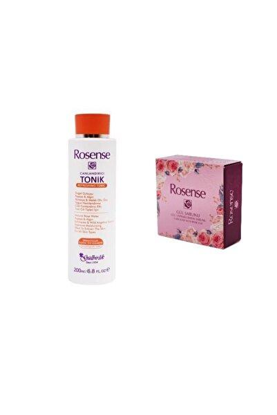 Rosense 2'li Set Canlandırıcı Tonik+ Gül Yapraklı Bakım Sabunu