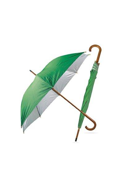 TREND Ahşap Saplı Fiber Glass Kırılmaz Şemsiye Yeşil