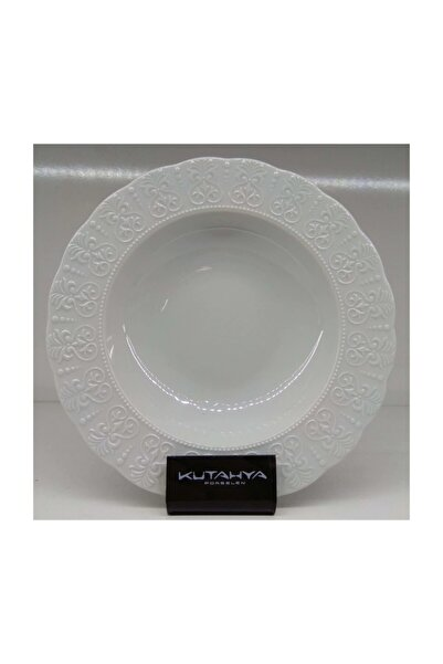 Kütahya Porselen Leydi 19 Cm 6'lı Yemek Tabak Dekorsuz